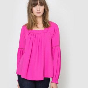 Folk blouse met vierkante hals R studio
