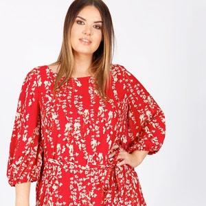 Halblanges Kleid, Blumenmuster, gerade Form KOKO BY KOKO