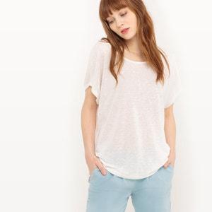 Camiseta con cuello redondo, manga corta VILA