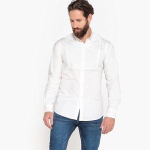 Recht hemd met lange mouwen