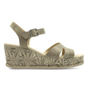 Sandalias de piel con tacón de cuña Akilah Eden CLARKS