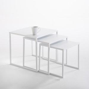 Tafeltjes in staal (set van 3), Hiba La Redoute Interieurs