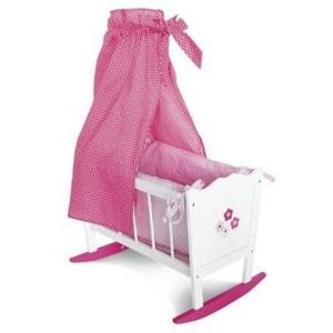 BAYER CHIC Le berceau de poupée, blanc/rose vif accessoires pour poupée BAYER CHIC