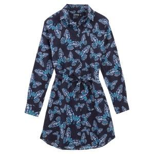 Vilebrequin Robe chemise liquette longue Butterflies - Femme VILEBREQUIN