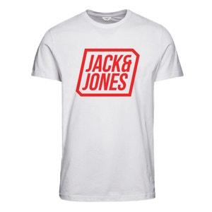 Bedrukt T-shirt met ronde hals en korte mouwen JACK & JONES