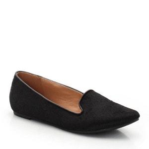 Sapatos slippers em pele com pelo, estampados ou lisos SOFT GREY
