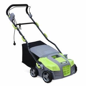VOLTR  - Scarificateur électrique gazon 1800W - Outil 2en1 aérateur et démousseur pelouse, 2 rouleaux : couteaux et griffes ALICE S GARDEN