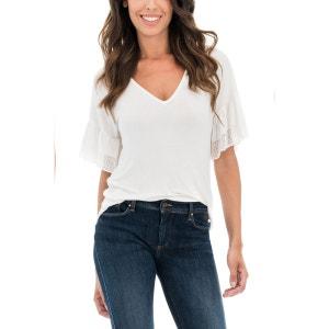 T-shirt avec dentelle aux manches SALSA