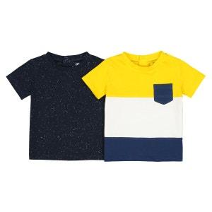 Lot de 2 tshirts manches courtes - 1 mois - 3 ans La Redoute Collections