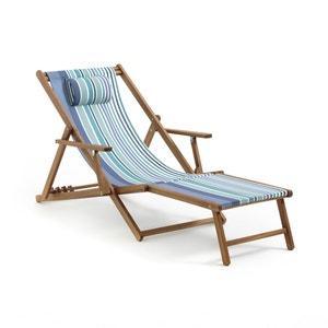 Chaise longue acacia et toile, Amezza La Redoute Interieurs
