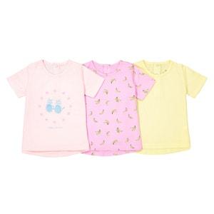T-shirt met korte mouwen 1 mnd - 3 jr (set van 3) La Redoute Collections