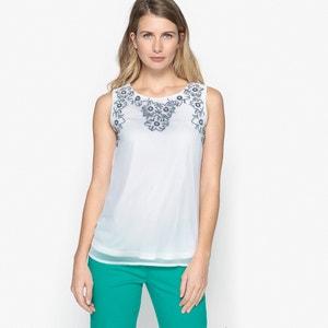 Geborduurde blouse, zonder mouwen ANNE WEYBURN