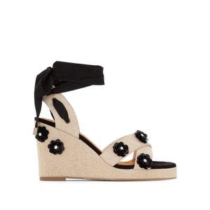 Sandalen mit Keilabsatz, Sohle mit Blumenmotiv MADEMOISELLE R