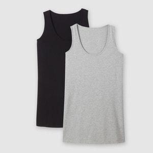 Pack of 2 Cotton Vest Tops CASTALUNA