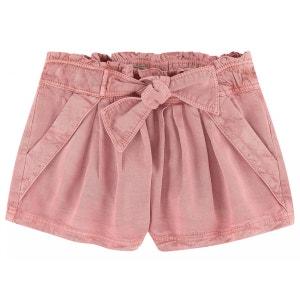 Short fille en coton rose PRINCESSE ILOU