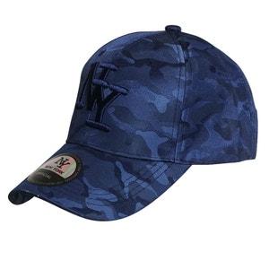 Casquette NY bleu tachetée CHAPEAU-TENDANCE