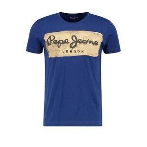 Koszulka Charing z nadrukowanym motywem PEPE JEANS