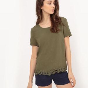 blouse manches courtes détails dentelles VILA