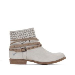 Boots plates zippées, tige effet ajouré MUSTANG SHOES