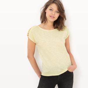 T-shirt met korte mouwen en ronde hals VERO MODA