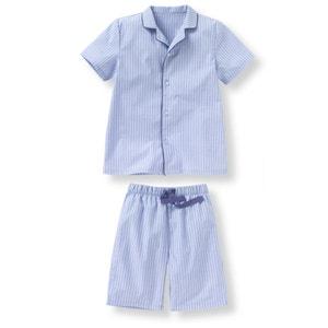 Striped Poplin Short Pyjamas, 2-12 Years La Redoute Collections