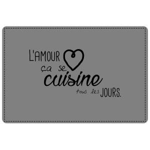 Set de table 28 x 44 cm opaque L'Amour en Cuisine DOUCEUR D'INTÉRIEUR