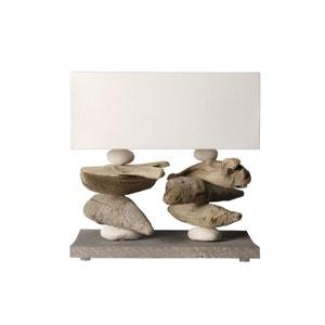 Lampe à poser en bois flotté Lugger Blanc COC ART