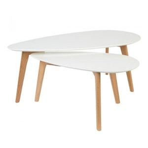 Lot de 2 tables basses laquées Drop DRAWER