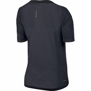T-shirt scollo rotondo tinta unita, maniche a 3/4 NIKE
