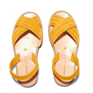 Sandálias rasas em pele de vaca, AVARCA BERLIN MINORQUINES