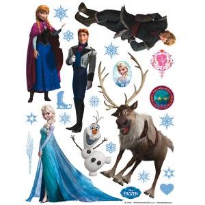 Stickers géant La Reine des Neiges Frozen Disney WALLTASTIC