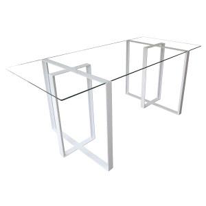 Bureau design acier et verre Séverin ALEX DE ROUVRAY DESIGN