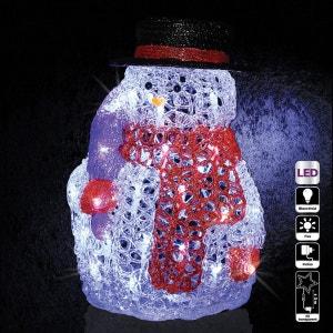 Décoration de Noël d'extérieur Lumineuse - H. 28 cm - Bonhomme de neige ATMOSPHERA