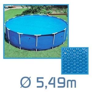 Bâche à bulles ronde 5.49m Ø 180 microns pour piscine Intex ou autre LINXOR