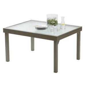 Table de jardin Gris Modulo en Aluminium avec Rallonges pour 6 à 10 personnes WILSA