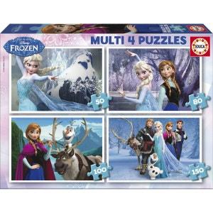 La Reine des Neiges - Multi 4 Puzzles 50+80+100+150 - EDU16173 EDUCA