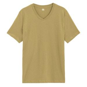 T-shirt met V-hals in katoen, Théo