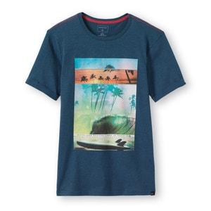 T-shirt z okrągłym dekoltem we wzór 8-16 lat Quiksilver® QUIKSILVER