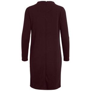 Vestido corto, liso y recto, de manga larga VILA