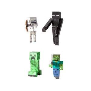 Minecraft - Pack 4 figurines Mobs 8 cm JAZWARES