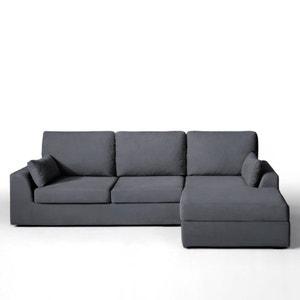 Canapé d'angle, fixe, confort supérieur, coton demi-natté, Madison La Redoute Interieurs