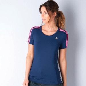 T-shirt à 3 bandes adidas Clima Essential pour femme en bleu marine adidas