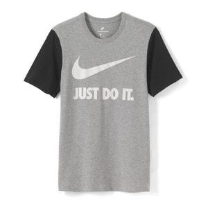 Camiseta con motivo estampado delante y cuello redondo NIKE