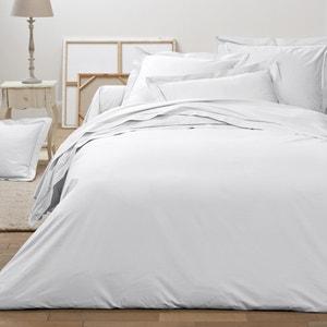 Secret Cotton Percale Flat Sheet with Spoke Stitching La Redoute Interieurs