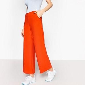 Wijde broek met hoge taille La Redoute Collections