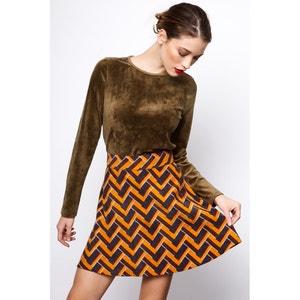 Geometric Print Skater Skirt COMPANIA FANTASTICA