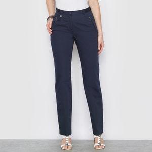 Pantalon spécial voyage, satin de coton stretch ANNE WEYBURN