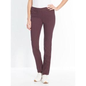 Pantalon uni extensible, mollet standard SECRETS DE MODE