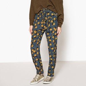 Pantalon imprimé à taille élastiquée CLEOPHE MARIE SIXTINE