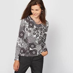 Printed Crêpe T-Shirt ANNE WEYBURN
